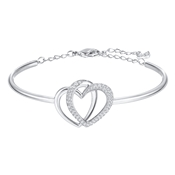 Swarovski Silver Entwined Hearts Bangle
