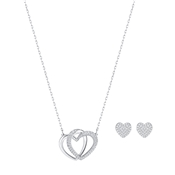 Swarovski Dear Heart Rhodium Crystal Set