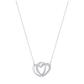 Swarovski Silver Entwined Hearts Necklace