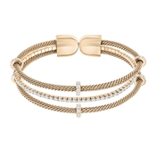 Swarovski Rose Gold Layered Bangle