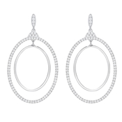 Swarovski Gilberte Silver Hoop Earrings