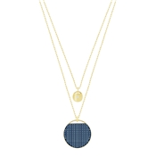 Swarovski Gold & Blue Layered Necklace