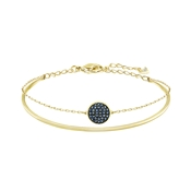 Swarovski Gold Double Bangle