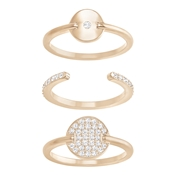 Swarovski Rose Gold Circle Ring Set