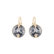 Swarovski Globe Rose Gold & Grey Earrings