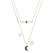 Swarovski Glowing Moon Layered Necklace