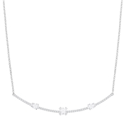 Swarovski Gray Silver Necklace