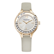 Swarovski Lovely Crystals Grey & Rose Gold Watch