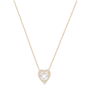 Swarovski Dancing Crystal Rose Gold Heart Necklace