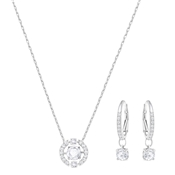 Swarovski Sparkling Dance Rhodium Crystal Circle Set