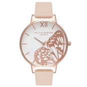 Olivia Burton Nude Peach Butterfly Watch