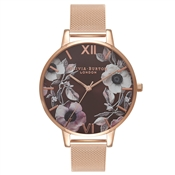 Olivia Burton Poppy Brown & Rose Gold Watch