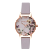 Olivia Burton Pansy Lilac & Rose Gold Watch