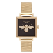 Olivia Burton Gold Square Dial 3D Bee Watch