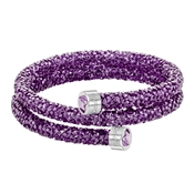 Swarovski Crystaldust Purple Double Bangle - Small