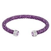 Swarovski Crystaldust Purple Bangle  - Large