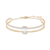 Swarovski Gallery Rose Gold & Square Cut Bangle