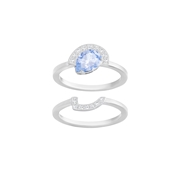 Swarovski Gallery Blue Ring Set Size 55