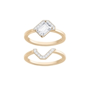 Swarovski Gallery Rose Gold Ring Set Size 55