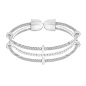 Swarovski Silver Layered Bangle