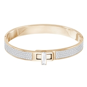 Swarovski Gave Rose Gold Buckle Bangle (Medium)