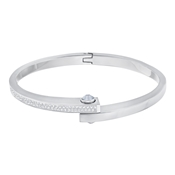 Swarovski Crystal Silver Get Bangle (Large)