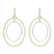 Swarovski Gilberte Gold Hoop Earrings