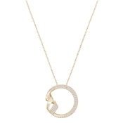 Swarovski Graceful Rose Gold Twist Necklace