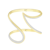 Swarovski Gold Groove Bangle