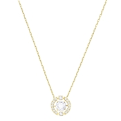 Swarovski Dancing Crystal Gold Necklace