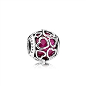 PANDORA Cerise Encased In Love Charm