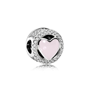 PANDORA Pink Wonderful Love Charm