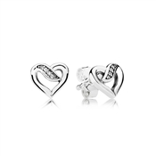 PANDORA Ribbons of Love Earrings
