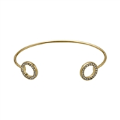 Pilgrim Gold Cuff Bangle