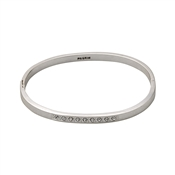Pilgrim Silver Crystal Bangle