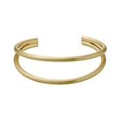 Pilgrim Gold Havana Cuff Bangle