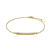 Pilgrim Gold Sophy Bar Bracelet