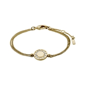 Pilgrim Gold Nelly Disc Bracelet