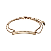 Pilgrim Rose Gold Nelly Bar Bracelet