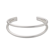 Pilgrim Silver Havana Cuff Bangle
