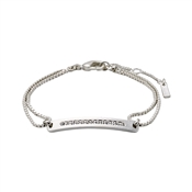 Pilgrim Silver Nelly Bar Bracelet