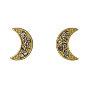 Pilgrim Gold Moon Crystal Studs