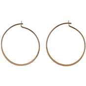 Pilgrim Rose Gold Hoop Earrings