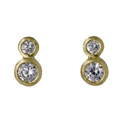 Pilgrim Gold Crystal Circle Studs