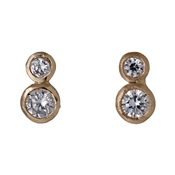 Pilgrim Rose Gold Crystal Circle Studs