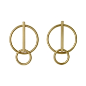 Pilgrim Gold Havana Circle Earrings