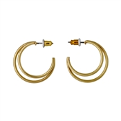 Pilgrim Gold Havana Hoop Earrings