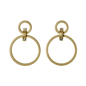 Pilgrim Gold Ariana Circle Earrings