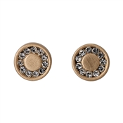 Pilgrim Rose Gold Nelly Disc Earrings