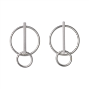 Pilgrim Silver Havana Circle Earrings